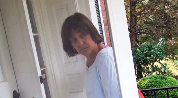 Lois Lerner begs her neighbor to let her inside.