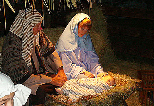 A live Nativity re-creation in Stuart, Florida (photo by Joe Kovacs)