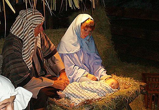 A live Nativity re-creation in Stuart, Florida (photo by Joe Kovacs)