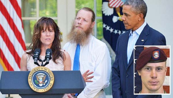 President Barack Obama with Jani and Bob Bergdahl, the parents of Sgt. Bowe Bergdahl, upon announcement of the prisoner swap