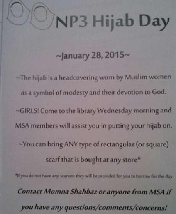 High school holds 'hijab day' for students