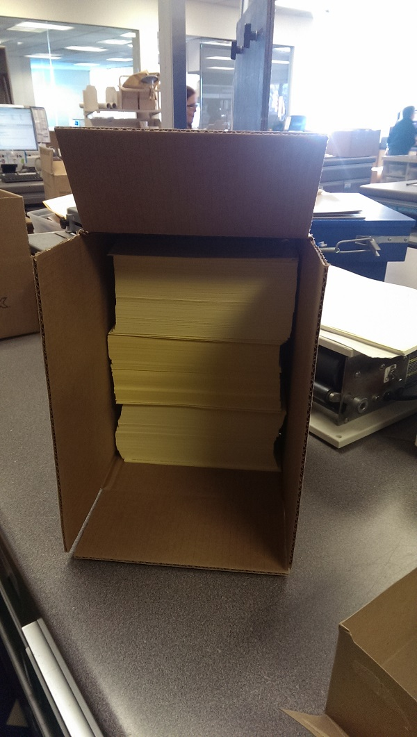 Boxes of tens of thousands of yellow letters being dispatched to GOP members of the U.S. House