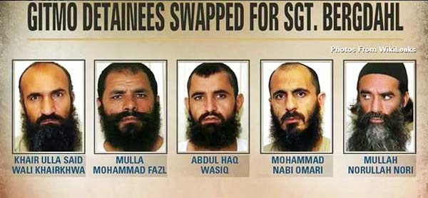 The five swapped for Bergdahl
