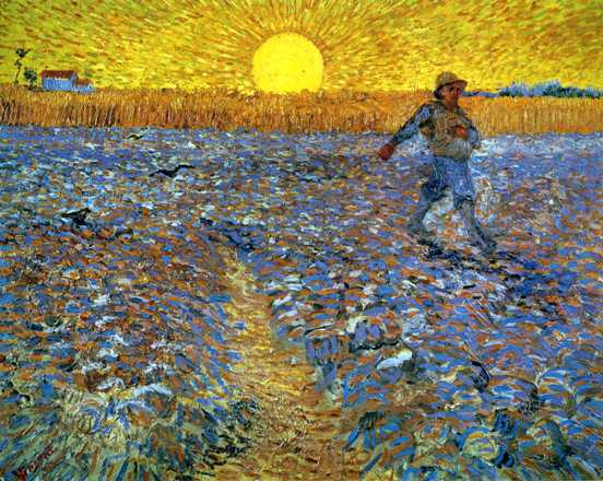 """The Sower"" by Vincent Van Gogh, 1888"