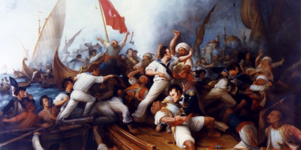 Painting of Decatur in First Barbary War