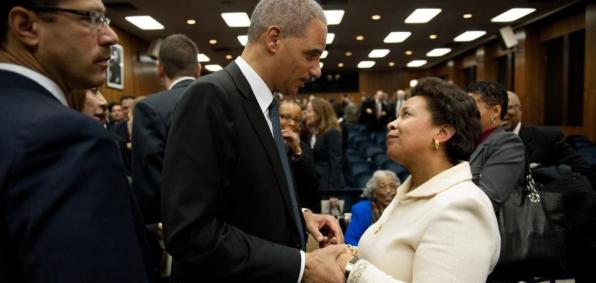 Eric Holder and Loretta Lynch