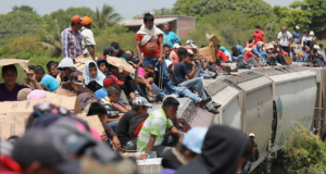 Illegal immigrants flood across the border