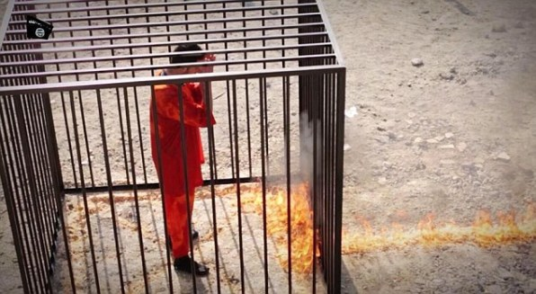 ISIS video purported show Jordanian pilot being burned alive