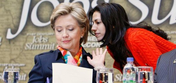 Hillary Clinton and Huma Abedin