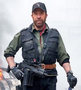 "Chuck Norris in ""Expendables 2"""
