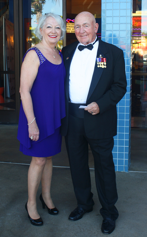 "Vietnam veteran Capt. ed McCourt and his wife, Dr. Susan McCourt at the ""Ride the Thunder"" premiere"