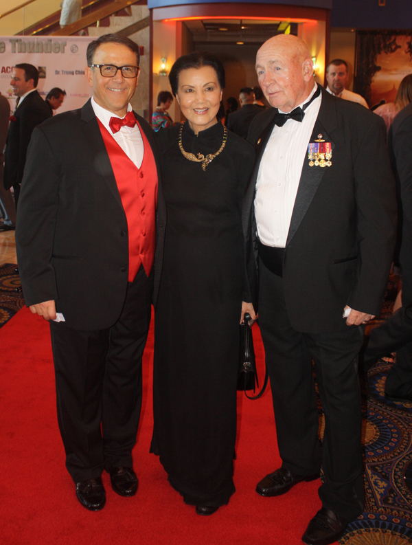 """Ride the Thunder"" Executive Producer Richard Botkin (left), Vietnamese-American actress and producer Kieu Chinh and retired Marine Capt. Ed McCourt (WND photo/Chelsea Schilling)"