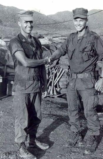 "Skipper John Ripley and ""Ripley Raider"" Sgt. Chuck Goggin, Ca Lu, 1967"