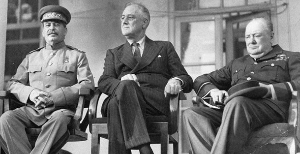 Stalin, Roosevelt and Churchill