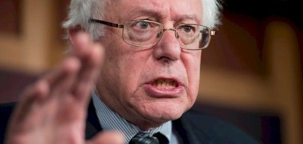 Then-Democratic presidential candidate Sen. Bernie Sanders, I-Vt.