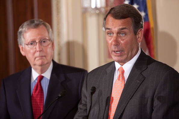 Senate Majority Leader Mitch McConnell, R-Ky., and House Speaker John Boehner, R-Ohio