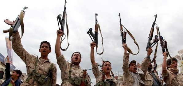 Iranian-backed Houthi fighters in Yemen
