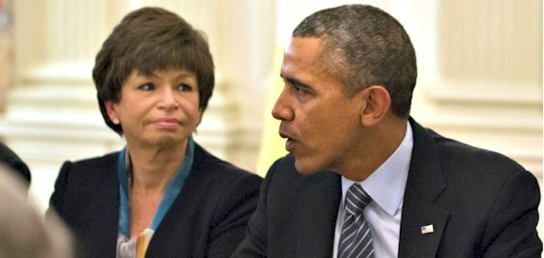 Valerie Jarrett and President Obama