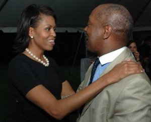 Michelle Obama and Charles Ogletree