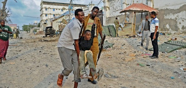 A hotel bombing in Somalia's capital, Mogadishu, in March 2015.