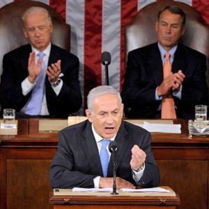 Israeli Prime Minister Benjamin Netanyahu speaks to Congress on March 3, 2015