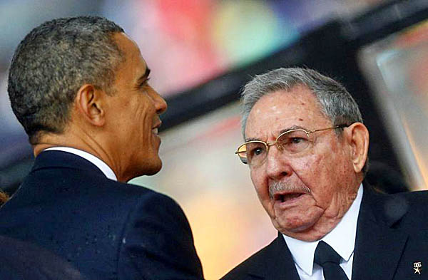 President Barack Obama and Cuba's Raul Castro