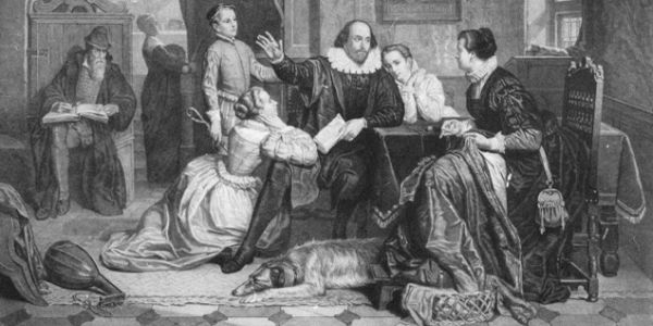 William Shakespeare with his family