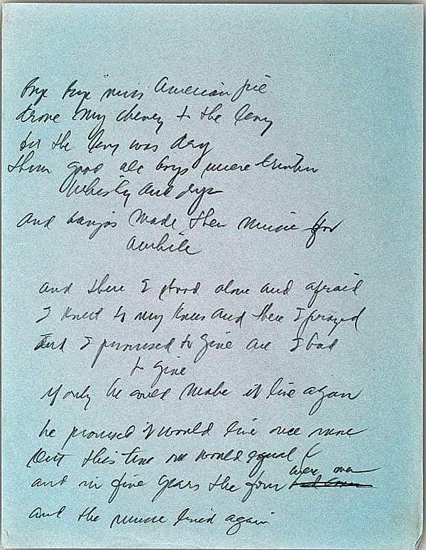 miss american pie lyrics