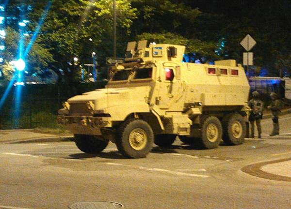 Maryland National Guard arriving on the scene in Baltimore