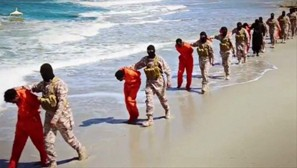 Screen capture from ISIS video purporting to show execution of Ethiopian Christians