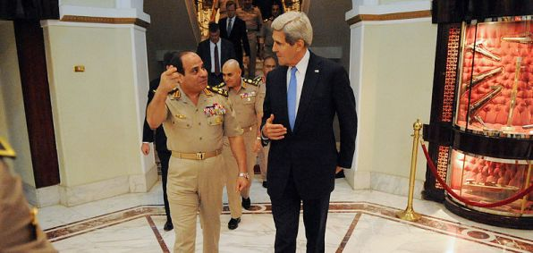 Egyptian President Abdel Fattah al-Sisi and Secretary of State John Kerry