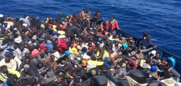 """""""Refugees"""" arriving in Italy"""