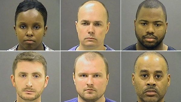 Six police officers have been charged in Freddie Gray's death