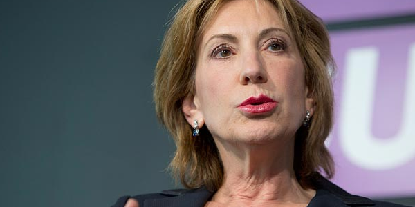 Carly Fiorina, former head of tech giant Hewlett Packard and now a candidate for president.