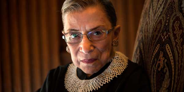 Justice Ruth Ginsburg, one of five lawyers who created same-sex 'marriage' across the United States