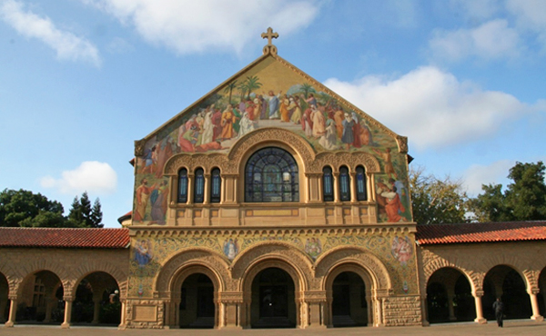 The Memorial Church at Stanford. Stanford graduates such as Max Steineke and Dr. Donald Lowe have had a tremendous impact on the world of science (Photo by Anthony C. LoBaido)