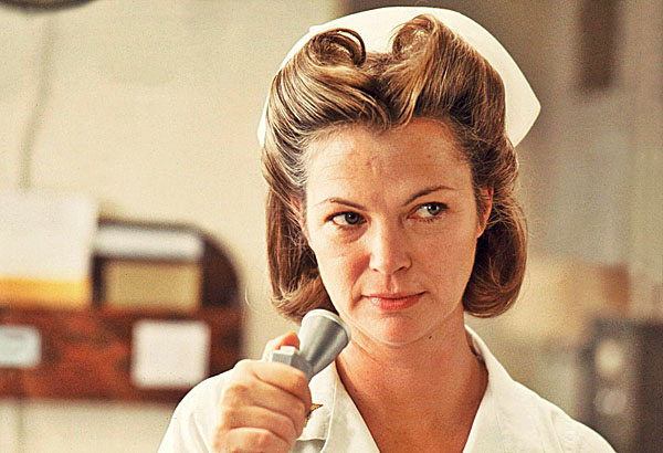 "Louise Fletcher portrays the dreaded Nurse Ratched in 1975's ""One Flew Over the Cuckoo's Nest."""