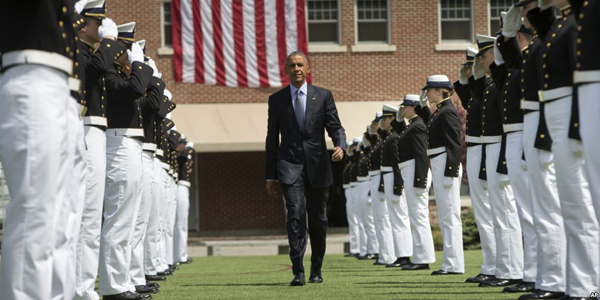 President Obama speaks at the U.S. Coast Guard Academy