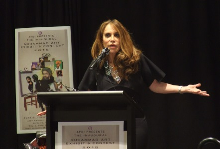 Pamela Geller Sunday night in Garland, Texas (WND photo)