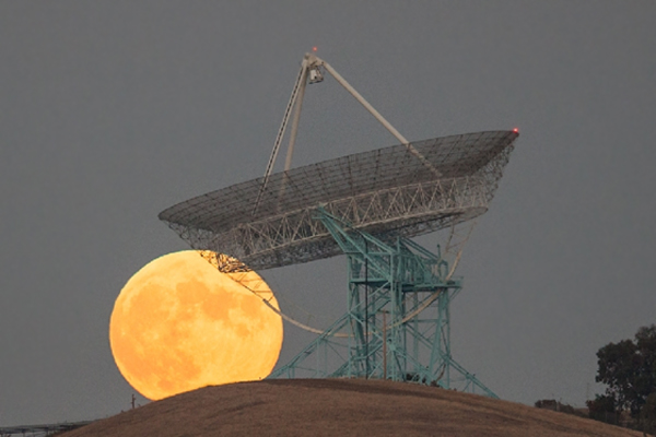 """Moon over Stanford Dish"" taken by Tim McManus on Oct. 18, 2013"