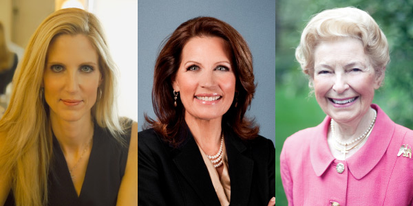 Ann Coulter, Michelle Bachmann and Phyllis Schlafly