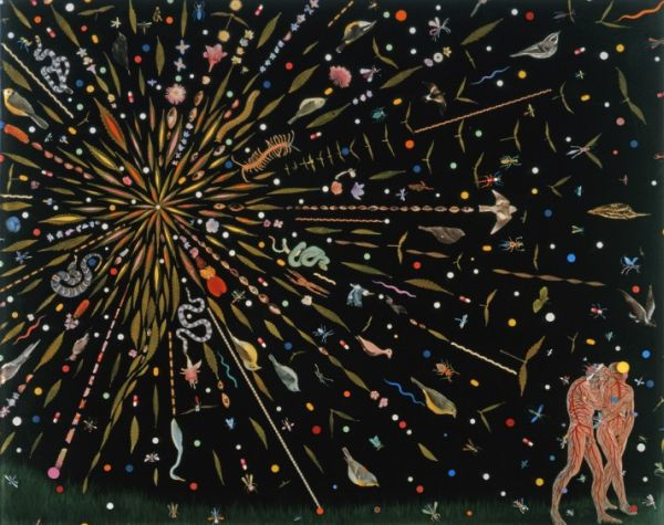 "Fred Tomaselli: ""Study for Propulsion"" from MOBIA show Back to Eden: Contemporary Artists Wander the Garden"