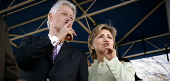 The scandal-prone Clintons