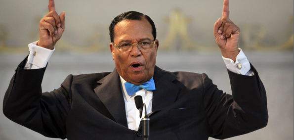 Minister Louis Farrakhan, the 82-year-old leader of the Nation of Islam