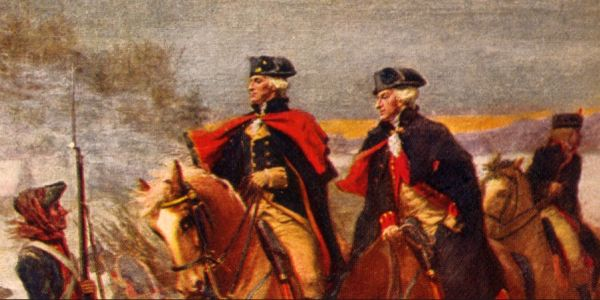 Marquis de Lafayette, George Washington at Valley Forge