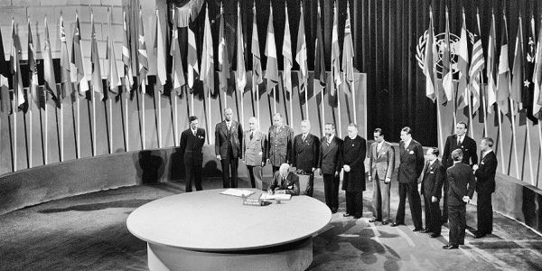 Signing of the United Nations charter