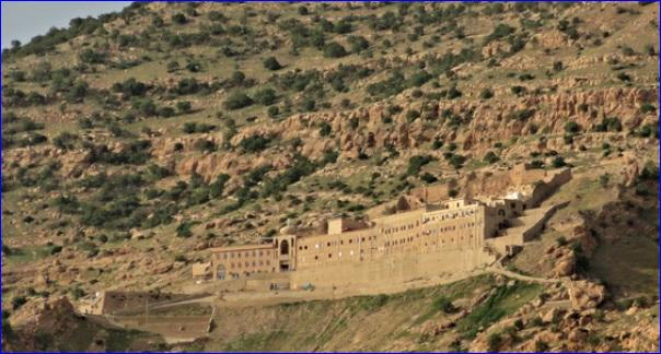 St. Matthews Monastery is a 1,650-year-old structure built into the side of a mountain on the Nineveh Plain of northern Iraq.