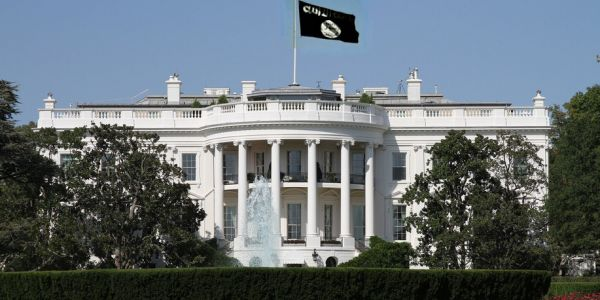 White house ISIS flag