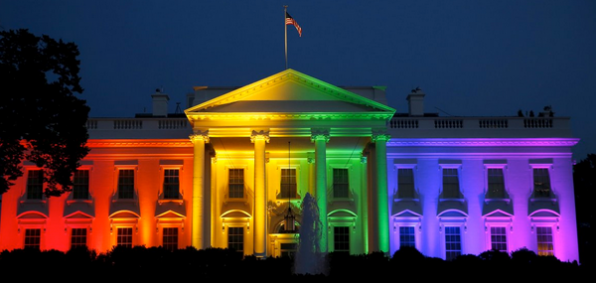 President Obama's administration lit the White House with rainbow colors on the evening of June 26, 2015, after the U.S. Supreme Court made a decision in favor of legalized same-sex marriage