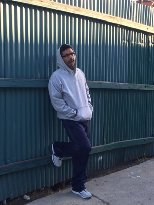 Dinesh D'Souza near the confinement center in San Diego where he slept each night for the past eight months. (Courtesy Dinesh D'Souza)